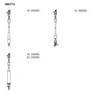 BREMI 300/774 Комплект высоковольтных проводов