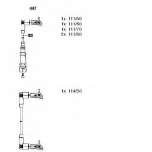BREMI 447 Комплект проводів AUDI/VW 80/100/Passat >>\90