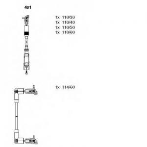 BREMI 481 Комплект проводов зажигания