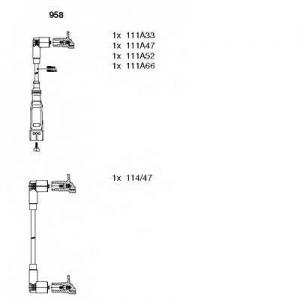BREMI 958 Комплект проводов зажигания