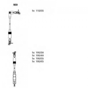 BREMI 959 Ккомплект проводов зажигания