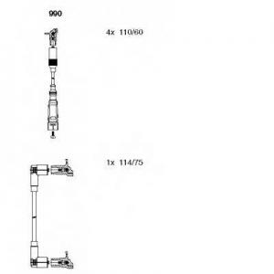 BREMI 990 Комплект проводов зажигания