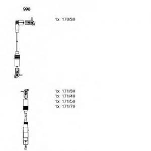 BREMI 998 Комплект проводів AUDI/VW A4/Passat \1,6 \94-00