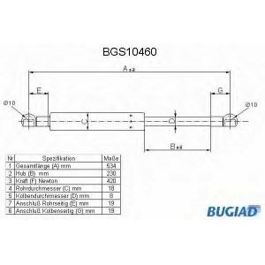 BUGIAD BGS10460 Амортизатор багаж