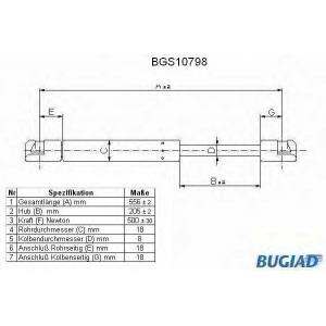 BUGIAD BGS10798 Амортизатор багаж