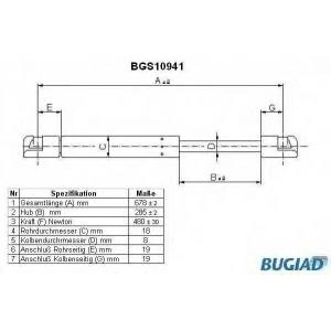 BUGIAD BGS10941 Амортизатор багаж