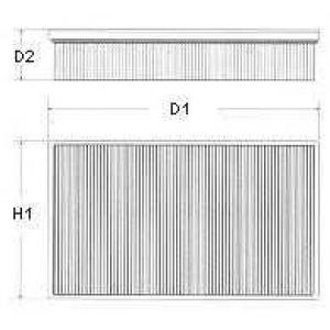 Воздушный фильтр u668606 champion - OPEL VECTRA B Наклонная задняя часть (38_) Наклонная задняя часть 1.6 i
