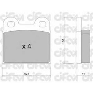 CIFAM 822-002-1 Комплект тормозных колодок, дисковый тормоз Опель Кадет