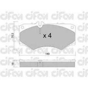 CIFAM 8220140 Комплект тормозных колодок, дисковый тормоз
