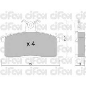 CIFAM 8220260 Комплект тормозных колодок, дисковый тормоз