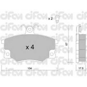 CIFAM 822-030-1 Комплект тормозных колодок, дисковый тормоз Фиат Регата