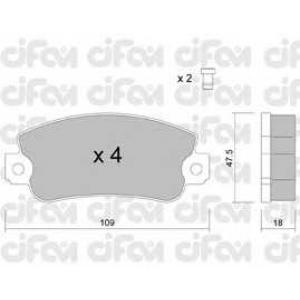 CIFAM 822-033-1 Комплект тормозных колодок, дисковый тормоз Фиат Регата Викенд