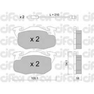 CIFAM 8220370 Комплект тормозных колодок, дисковый тормоз
