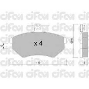 CIFAM 822-050-0 Колодка торм. SEAT CORDOBA (6K2/C2), IBIZA II (6K1), VW GOLF II передн. (пр-во Cifam)