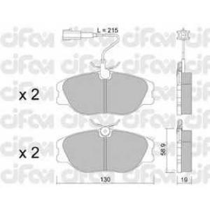CIFAM 8220721 Комплект тормозных колодок, дисковый тормоз