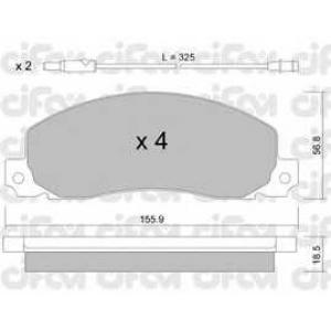 CIFAM 822-098-0 Комплект тормозных колодок, дисковый тормоз Рено Трафик
