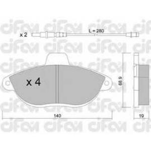 CIFAM 8221050 Комплект тормозных колодок, дисковый тормоз