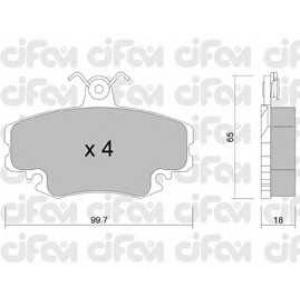 CIFAM 8221200 Комплект тормозных колодок, дисковый тормоз