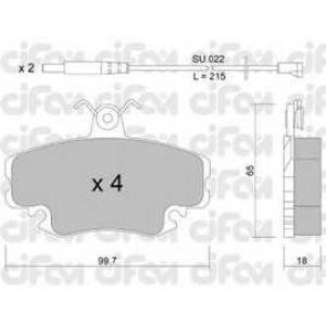 CIFAM 822-120-0K Колодка торм. PEUGEOT/RENAULT 205/309/CLIO/EXPRESS передн. (пр-во Cifam)
