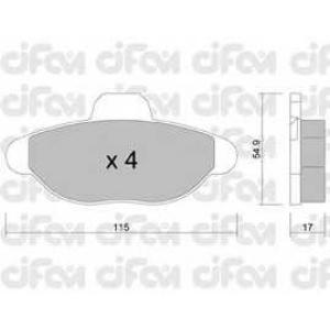CIFAM 822-137-0 Комплект тормозных колодок, дисковый тормоз Фиат