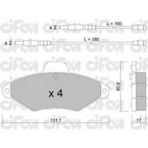 CIFAM 8221440 Комплект тормозных колодок, дисковый тормоз