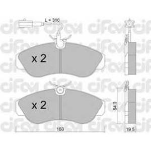 CIFAM 8221551 Комплект тормозных колодок, дисковый тормоз