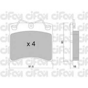 CIFAM 8221630 Комплект тормозных колодок, дисковый тормоз