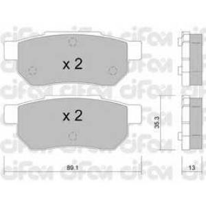 CIFAM 8221700 Комплект тормозных колодок, дисковый тормоз