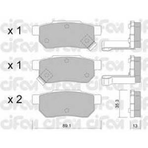 CIFAM 822-170-1 Комплект тормозных колодок, дисковый тормоз Акура