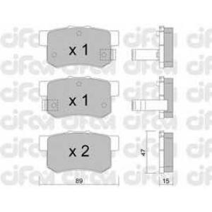 CIFAM 822-173-0 Комплект тормозных колодок, дисковый тормоз Акура Легенд