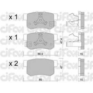 CIFAM 8221731 Комплект тормозных колодок, дисковый тормоз