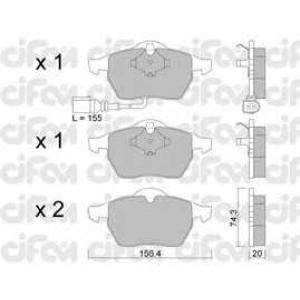 CIFAM 8221814 Комплект тормозных колодок, дисковый тормоз