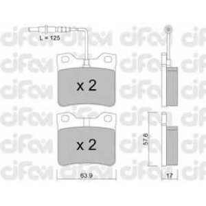 CIFAM 8221920 Комплект тормозных колодок, дисковый тормоз