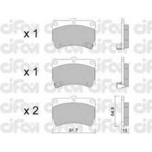 CIFAM 8221960 Комплект тормозных колодок, дисковый тормоз