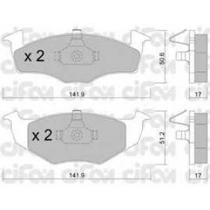 CIFAM 8222060 Комплект тормозных колодок, дисковый тормоз