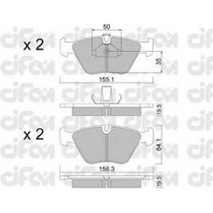 CIFAM 822-207-0 Колодка торм. BMW 520-528i передн. (пр-во Cifam)