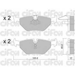 CIFAM 8222100 Комплект тормозных колодок, дисковый тормоз