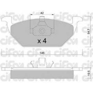 CIFAM 8222110 Комплект тормозных колодок, дисковый тормоз