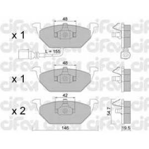 CIFAM 8222112 Комплект тормозных колодок, дисковый тормоз