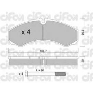CIFAM 8222120 Комплект тормозных колодок, дисковый тормоз