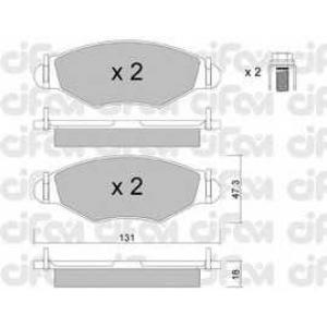 CIFAM 822-254-0 Колодка торм. PEUGEOT 206 передн. (пр-во Cifam)