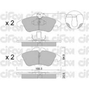 CIFAM 822-256-0 Колодка торм. MB SPRINTER 2-t, VW LT 28-35 передн. (пр-во Cifam)