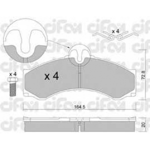 CIFAM 8222620 Комплект тормозных колодок, дисковый тормоз