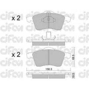CIFAM 8222630 Комплект тормозных колодок, дисковый тормоз