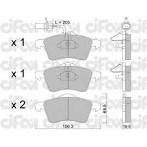 CIFAM 8222631 Комплект тормозных колодок, дисковый тормоз