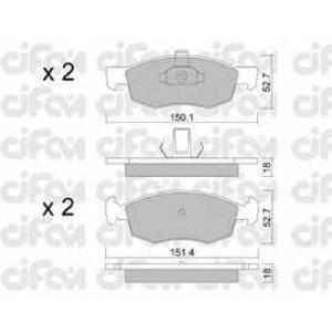 CIFAM 8222742 Комплект тормозных колодок, дисковый тормоз