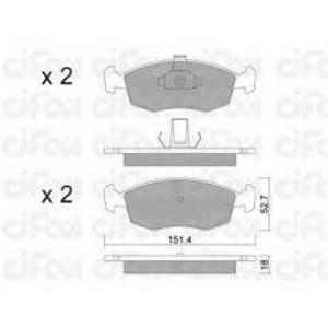 CIFAM 822-274-3 Комплект тормозных колодок, дисковый тормоз Фиат Страда