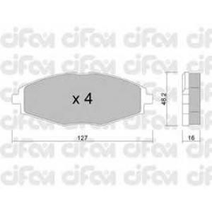 CIFAM 822-293-0 Комплект тормозных колодок, дисковый тормоз Дэу Матиз