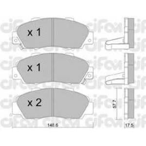 CIFAM 822-298-0 Комплект тормозных колодок, дисковый тормоз Акура Нсх