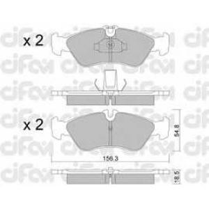 CIFAM 8223110 Комплект тормозных колодок, дисковый тормоз